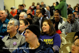 SEIU janitors rally for healthy workplaces