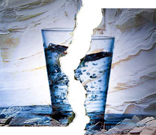 fracking cracked glass