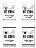 No idling brochure, 4 per page