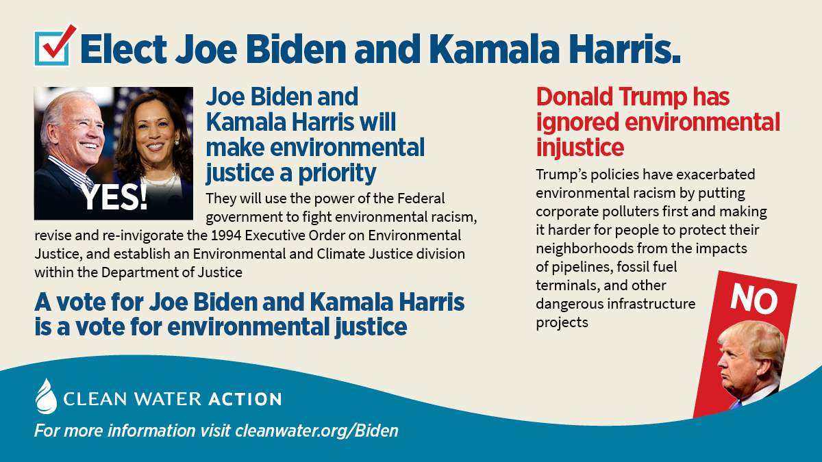 A vote for Biden/Harris is a vote for environmental justice
