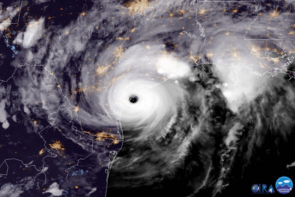 Hurricane Harvey, image via NOAA
