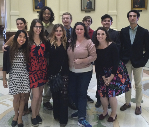 Clean Water Action lobbied legislators' offices on Texas Water Day, March 22