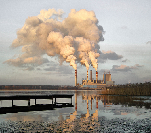 Coal plant, water