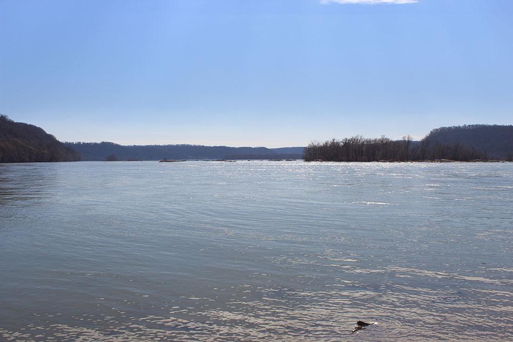 The confluence of the Conestoga River & the Susquehanna River
