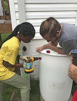 Making a rain barrel