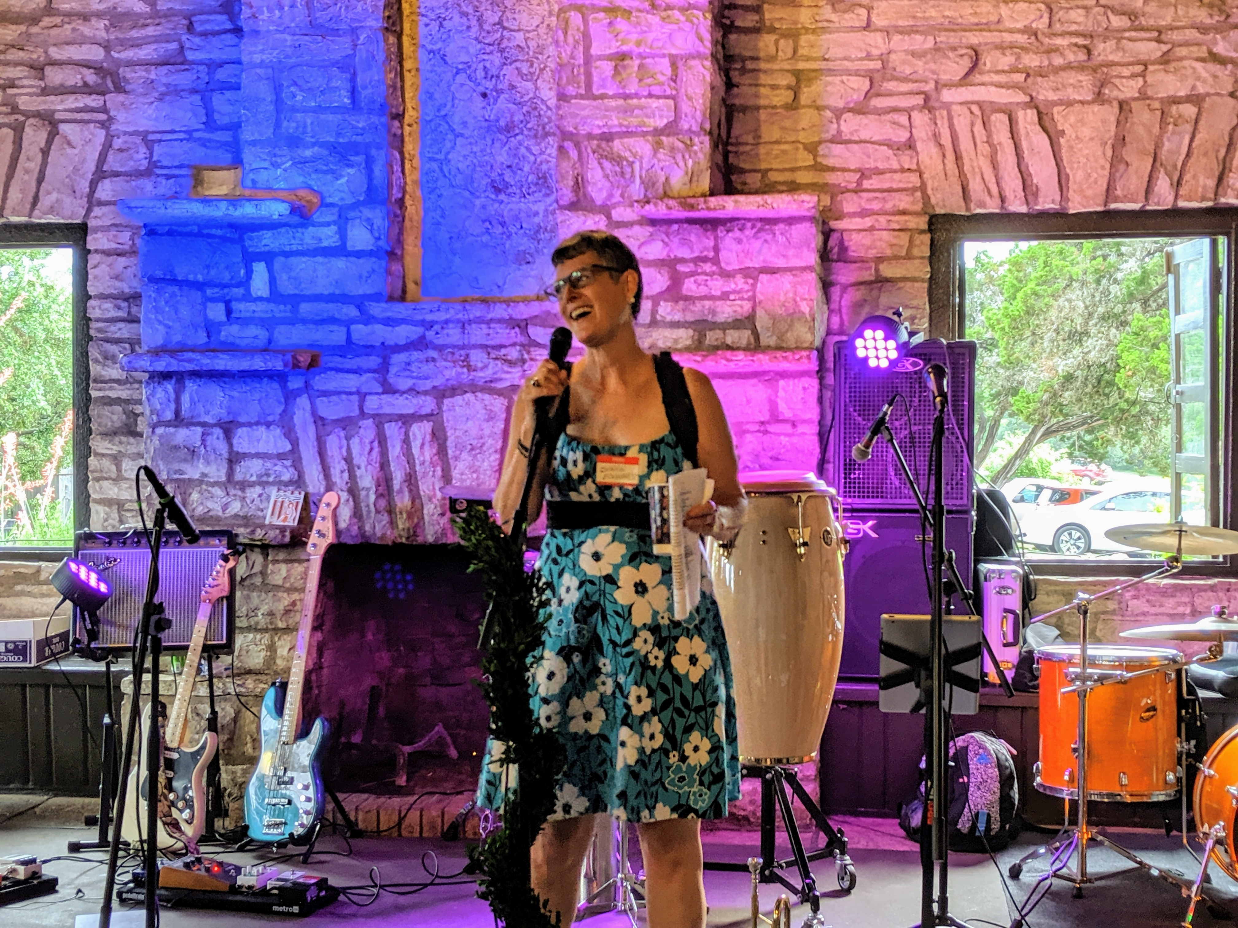 Sarah Eckhardt speaking at Spring for Water 2019
