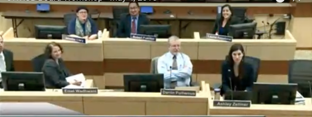Testifying before the state water board on May 4, 2016