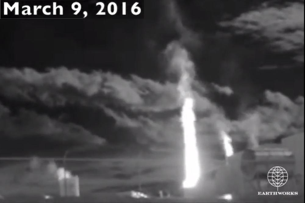 Screenshot of methane leak in Butler County via Earthworks