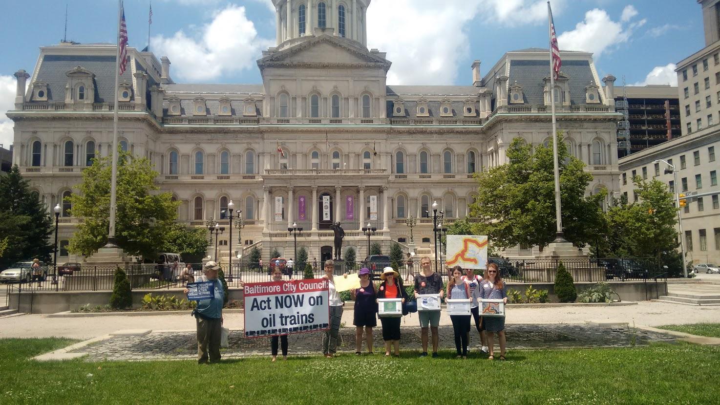 Baltimore Oil Train Action July 2016 (Jennifer Kunze, Clean Water Action)