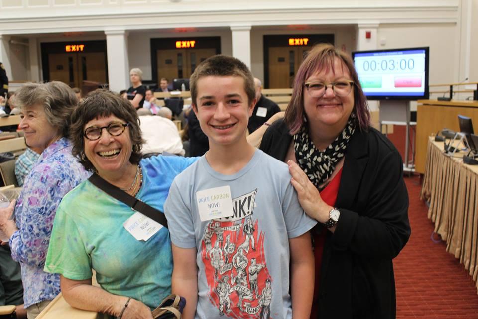 MA_Lynn Nadeau, grandson, Cindy - Carbon pricing bill hearing - June 2017.jpg