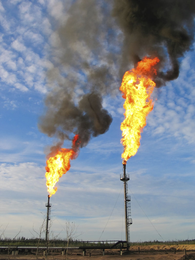 Methane flaring. Photo credit: Baton72 / IStock