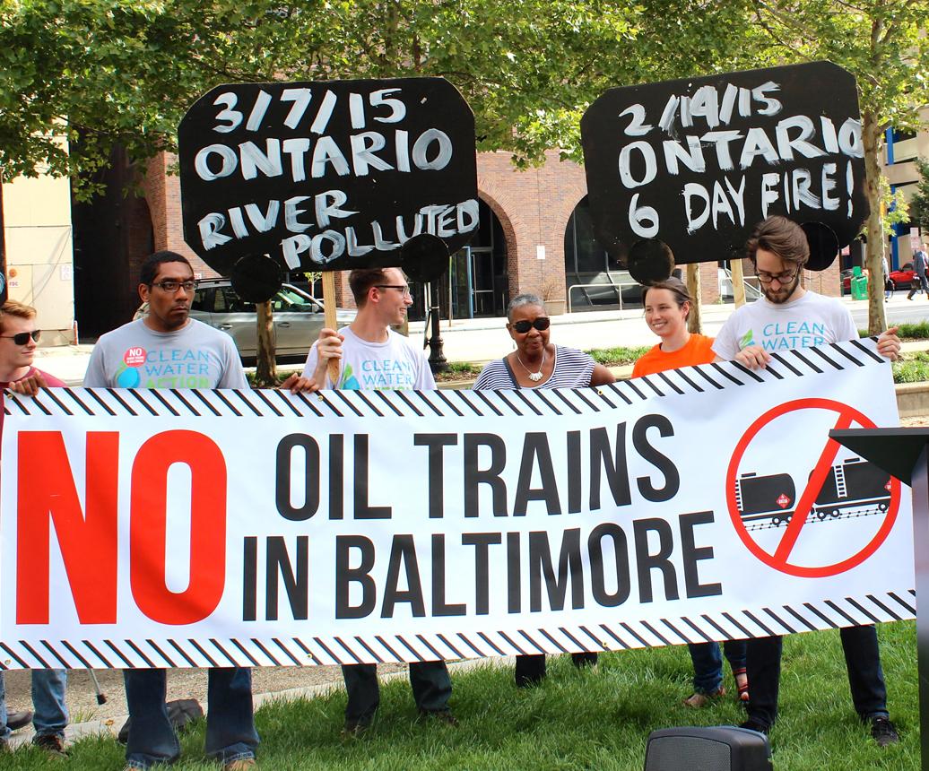 Oil Trains Baltimore by jennifer kunze