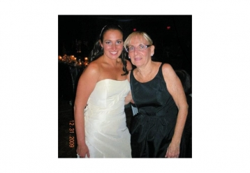 Jackie and her mom at Jackie's wedding