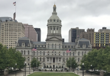 A picture of Baltimore City Hall