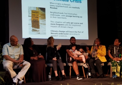 NJ Kim Gaddy on the panel at a California climate conference