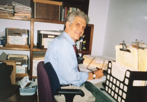 David Zwick in Clean Water's Office