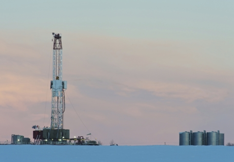 Drilling Rig at Dawn. Photo credit: tbob / iStock