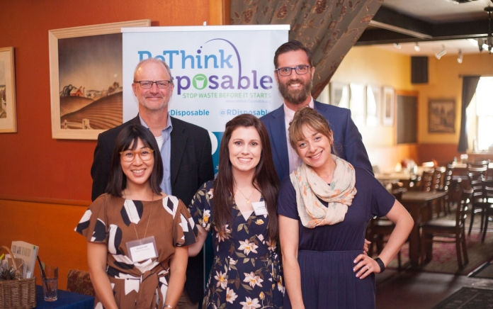 the ReThink Disposable Team at a celebration of the Alameda project