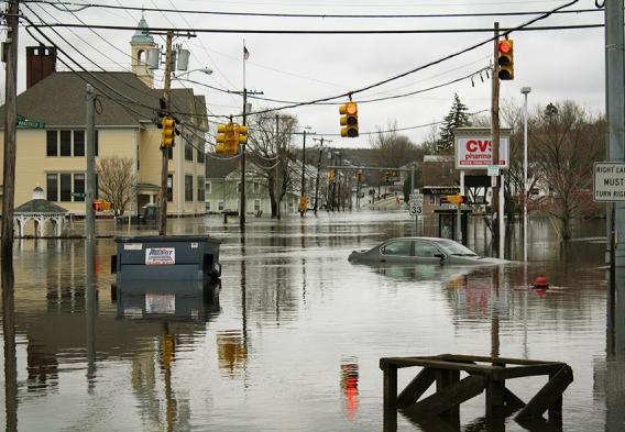 West Warwick Flood in 2010. Courtesy Weather.gov