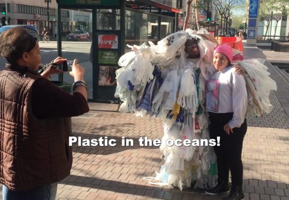 The plastic bag monster on the streets of Oakland