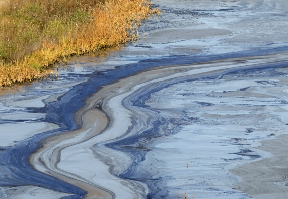 NJ Oil Slick on Water